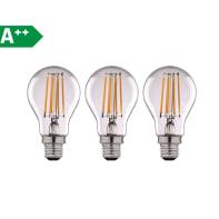 Lampadina Filamento LED E27 goccia bianco naturale 12W = 1521LM (equiv 100W) 360° LEXMAN, 3 pezzi