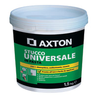 Stucco in pasta AXTON Universale 1.5 kg bianco