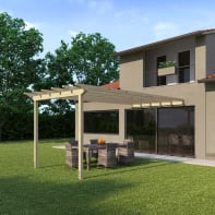Pergola Eagle in legno marrone L 300 x P 594 , H 272 cm