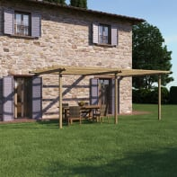 Pergola Orange in legno naturale L 600 x P 390 , H 240 cm