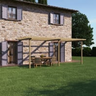 Pergola Orange in legno naturale L 600 x P 300 x, H 240 cm