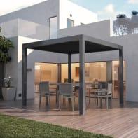 Pergola alluminio Spell grigio L 300 cm x P 296 cm, H 2.42 m