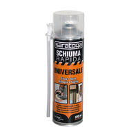 Schiuma poliuretanica rapida manuale 500ml giallo per porta 0,5 ml