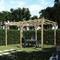 Pergola Apple in legno marrone L 500 x P 300 , H 248 cm