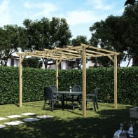 Pergola Apple in legno marrone L 400 x P 300 , H 248 cm