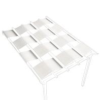 Telo di ricambio in acrilico per pergola Flamingo / Eagle (3 pezzi), bianco 70 x 650 cm