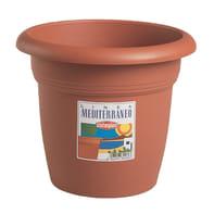 Vaso Mediterraneo STEFANPLAST in plastica colore cotto H 31 cm, Ø 40 cm