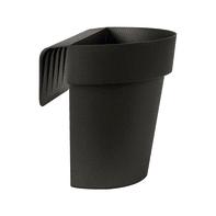 Vaso Up EURO3PLAST in plastica colore antracite H 23 cm, L 25 x P 20 cm