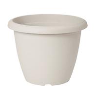 Vaso Terrae in plastica colore bianco H 15.2 cm, Ø 20 cm