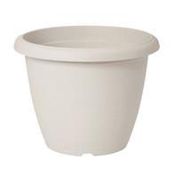 Vaso Terrae in plastica colore bianco H 23 cm, Ø 30 cm
