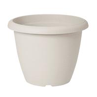 Vaso Terrae in plastica colore bianco H 34 cm, Ø 45 cm
