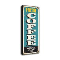 Quadro su tela Fresh Coffee 60x20 cm