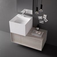 Lavabo da appoggio  Cube in solid surface bianco