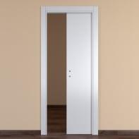 Porta scorrevole a scomparsa One White bianco L 80 x H 210 cm reversibile