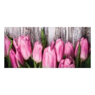 Quadro su tela Pink tulips 90x190 cm