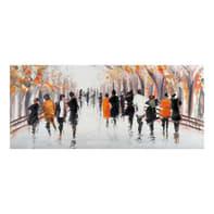 Quadro dipinto a mano People 150x65 cm