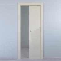 Porta scorrevole a scomparsa Massaua Ivory avorio L 80 x H 210 cm reversibile