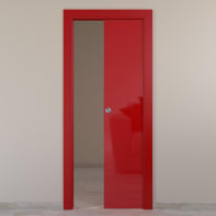 Porta scorrevole a scomparsa Massaua Red rosso L 60 x H 210 cm reversibile