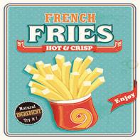 Quadro su tela French fries 40x40 cm