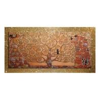 Quadro con cornice Brilla oro 140x70 cm