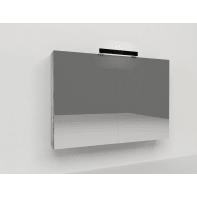Specchio contenitore con luce Key L 90 x P 15 x H 62 cm grigio