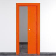 Porta scorrevole a scomparsa Keyboard Orange arancio L 70 x H 210 cm reversibile
