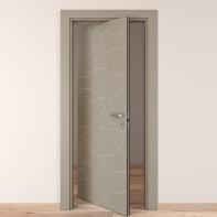 Porta rototraslante The Thing grigio L 70 x H 210 cm sinistra
