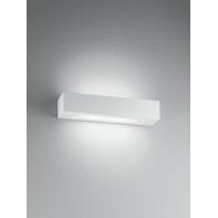 Applique design Candida bianco, in gesso, 2 luci