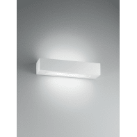 Applique design Candida bianco, in gesso, 36 cm, 2 luci INTEC