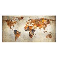 Quadro su tela Maps 70x140 cm