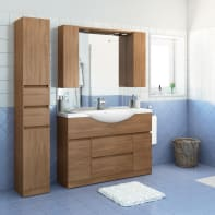 Mobile bagno Elise rovere tabacco L 120 cm