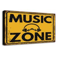 Quadro su tela Music Zone 24x35 cm