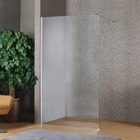 Doccia walk in L 80, H 200 cm, vetro 8 mm trasparente cromato
