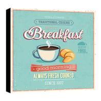 Quadro su tela Breakfast 30x30 cm