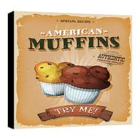 Quadro su tela Muffin 30x30 cm
