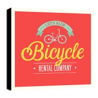 Quadro su tela Bicycle 30x30 cm