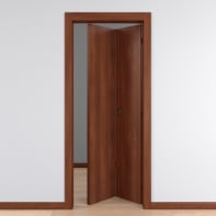 Porta pieghevole Schubert noce L 70 x H 210 cm reversibile