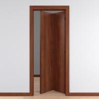 Porta pieghevole Schubert telaio 8.5 cm noce L 80 x H 210 cm reversibile