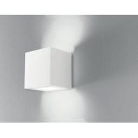 Applique design gesso Rubik bianco, in calcestruzzo, INTEC