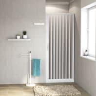 Porta doccia pieghevole Playa 90 cm, H 185 cm in pvc, spessore 2 mm acrilico piumato satinato