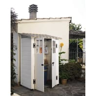 Casetta da giardino in pvc Tuscany Evo 100,  superficie interna 0.88 m² e spessore parete 20 mm