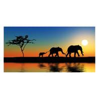 Quadro su tela Africa 120x60 cm