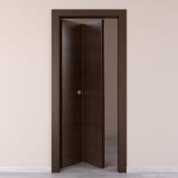 Porta pieghevole Timber noce scuro L 80 x H 210 cm sinistra
