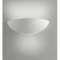 Applique Sestriere bianco, in gesso, 15x31 cm, E27 MAX28W IP20