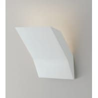 Applique design gesso Montblanc bianco, in calcestruzzo, 14 cm,