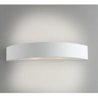 Applique design Cortina bianco, in gesso, 7x42 cm, 2 luci INTEC