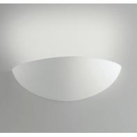 Applique design Moritz bianco, in gesso, 10.5x31 cm, INTEC