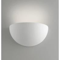Applique design gesso Moritz-s bianco, in calcestruzzo, 9.5x25 cm,