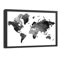 Quadro con cornice Mappa 65x85 cm
