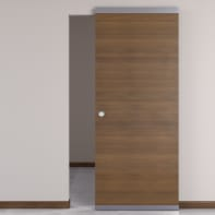 Porta scorrevole con binario esterno Stenophylla Easy in legno Binario nascosto L 91 x H 221 cm